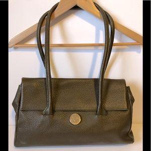 FURLA + dust bag brown pebbled leather bag EUC